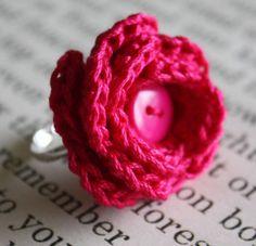 Crochet ring..cute i wanna try
