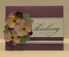 Stampin' Up!  Butterfly Punch  Cathy Autrey  Pansies