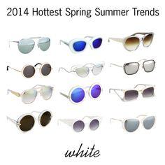 2014 Sunglasses Trends: White | sunglasscurator.com #polyvore
