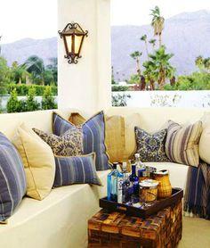 BARCLAY BUTERA--love the big outdoor pillows