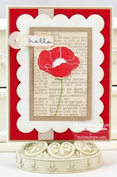 Pretty Poppies, Poppies and Leaves Die-namics, Blueprints 1 Die-namics - Mona Pendleton
