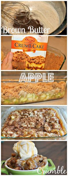 Brown Butter Apple Crumble