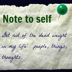 """""""Note To Self"""""""