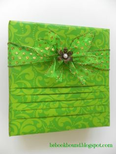 Make pretty packages with pleats!