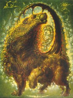 Sometimes #Chimera - A fire breathing creature - was represent with the body of a goat, the head of a lion and the tail of a serpent. other version depicted her with a lion body with three heads (one lion, one goat, one serpent/dragon-like). #Mythology