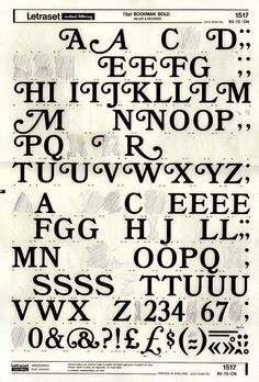 Loved Letraset. Still have some sheets around somewhere.