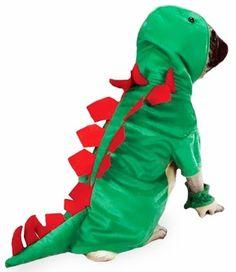 Casual Canine Dogosaurus Costume Green - MEDIUM