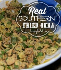 Real Southern Fried Okra is the perfect side dish or appetizer for your summer cookouts our anytime of year! Real Southern Fried Okra http://leavingtherut.com/real-southern-fried-okra/
