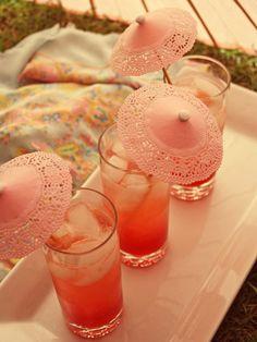drink parasols. cute.