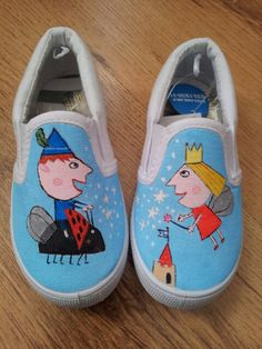 Ben and holly painted shoesshoes