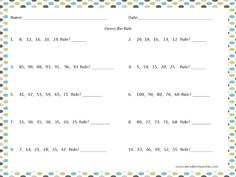 Free Guess The Rule Worksheet