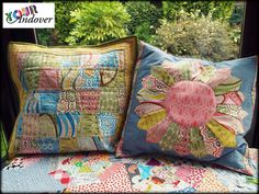 Congratulations to this week's winner of the Your Andover contest, Katy Jones! She made these awesome pillows using Thomas Knauer's Pear Tree collection.