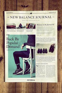 newspaper print editorial design typography format mens journal fashion menswear lifestyle