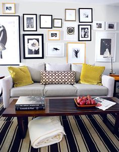 Art Wall with Grey Couch