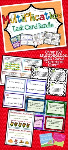 Multiplication Task Cards Galore! $
