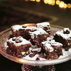 Recept - Berry-cherry-brownies - Allerhande