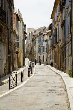 Village of Arles ~  I went to a street market here and bought a book of Polaroid pictures.