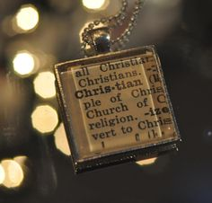 dictionary Christian pendant