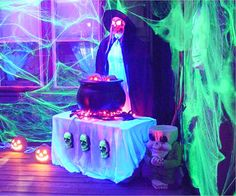 halloween parties, halloween decorations party, blacklight party, black light party decorations, blacklight parti, spider web