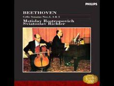 Beethoven Sonata for piano and cello No.1  Rostropovich&Richter - YouTube