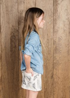 Butterfly print skirt #MANGOKids #FW14 #Kids