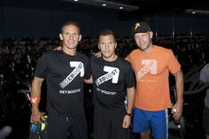 On 8/25/12, EBOOST got together with Sean Avery at Flywheel Sports Sag Harbor for a special charity spin event. We raised 5k for No Kid Hungry! Thanks to all the loyal BOOSTers who made this event such a success.  Sean Avery with EBOOST founders John McDonald and Josh Taekman (photo by Mia McDonald).