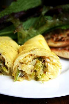 Leeks and Goat Cheese Omelet