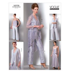 V2779, Misses'/Misses' Petite Jacket, Top, Pants and Skirt  $18.95  out of print