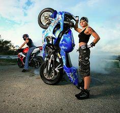 harleys for women | Female rider motorcycles stunt | honda motorcycles trend mode ...