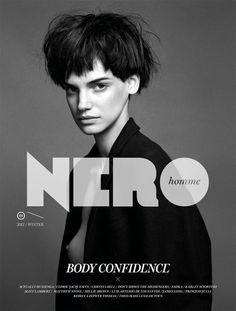 Magazine, Cover, Photo, Type, black & white, Nero Homme Magazine