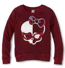 Monster High GIRLS Skullette Sweatshirt-style 7/8 Shirt NEW