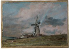 A Windmill on the Downs near Brighton, John Constable, 1824s