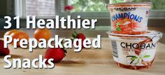 31 healthy pre packaged  snacks — one for each day of the month!
