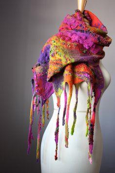 Felted scarf shawl by VitalTemptation