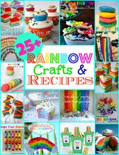 25+ Rainbow Recipes and Crafts | MomOnTimeout.com #cupcakes #crafts #Dessert #kids #rainbow #party