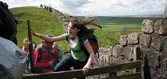 heart, wall walk, travel, backpack hadrian, hadrian wall