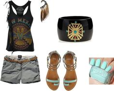 """Camping outfit"" by tararoofoff on Polyvore"