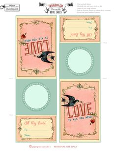 Valentines Printable Bottle Labels. So cute!!