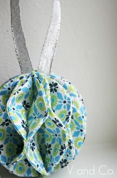 DIY fabric ball ornaments