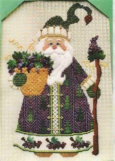 Santa loves his grapes