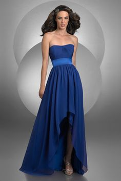This dress in red or pink for bridesmaids:)