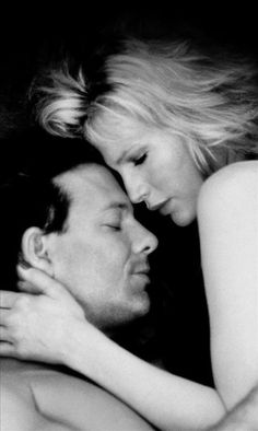 "Mickey Rourke and Kim Basinger in ""9 1/2 weeks"""