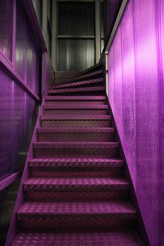 purple stairway