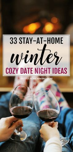 At-Home Winter Date Night Ideas for cozy winter dates! #datenightideas #winterdatenight #marriage