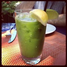 Healthy green juice or a Tomatillo Bloody Mary with tequila?