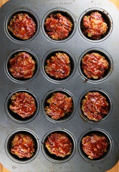 Gluten-Free Barbecue Meatloaf Muffins Recipe © Jeanette's Healthy Living #cleaneating #cleaneatingrecipe #dinner