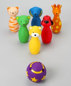 Take a look at this Colorful Bowling Friends Set by K's Kids on #zulily today!