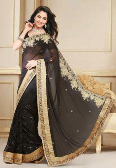 Beautiful Black Saree