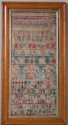 1701 'Boxers' Band Sampler by Elizabeth Langley
