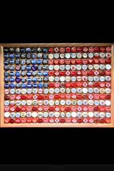 American flag bottle cap table